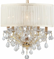 Crystorama 4415-GD-SAW-CLS Brentwood Gold Mini Chandelier Lamp