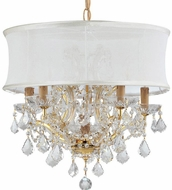 Crystorama 4415-GD-SMW-CLQ Brentwood Gold Mini Chandelier Light