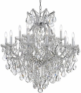 Crystorama 4418-CH-CL-I Maria Theresa Polished Chrome 35 Ceiling Chandelier