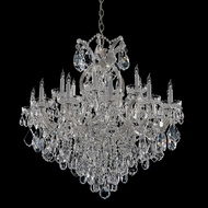 Crystorama 4418-CH-CL-MWP Maria Theresa Chrome Finish 36 Inch Tall Crystal 18 Candle Dining Room Chandelier