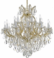 Crystorama 4418-GD-CL-S Maria Theresa Gold 35 Chandelier Light