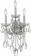 Crystorama 4423-CH-CL-S Maria Theresa Polished Chrome Candle Wall Light Sconce