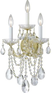 Crystorama 4423-GD-CL-S Maria Theresa Gold Candle Wall Sconce