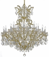 Crystorama 4424-GD-CL-MWP Maria Theresa Gold 46 Chandelier Light