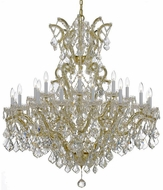 Crystorama 4424-GD-CL-S Maria Theresa Gold 46 Ceiling Chandelier