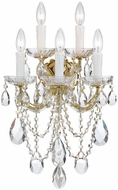 Crystorama 4425-GD-CL-S Maria Theresa Gold Candle Sconce Lighting