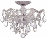 Crystorama 4430-CH-CL-MWP Maria Theresa Polished Chrome 14 Ceiling Light