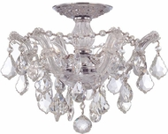 Crystorama 4430-CH-CL-SAQ Maria Theresa Polished Chrome 14  Ceiling Lighting Fixture