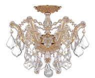 Crystorama 4430-GD-CL-SAQ Maria Theresa Gold 14  Flush Mount Lighting
