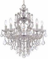 Crystorama 4435-CH-CL-S Maria Theresa Polished Chrome Mini Chandelier Light