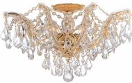 Crystorama 4437-GD-CL-MWP Maria Theresa Gold 19  Flush Mount Lighting Fixture