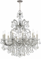 Crystorama 4438-CH-CL-MWP Maria Theresa Polished Chrome Chandelier Light