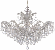 Crystorama 4439-CH-CL-S Maria Theresa Polished Chrome 27 Hanging Chandelier