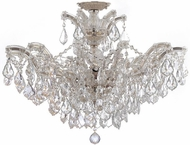 Crystorama 4439-CH-CL-SAQ-CEILING Maria Theresa Polished Chrome 27  Overhead Lighting Fixture
