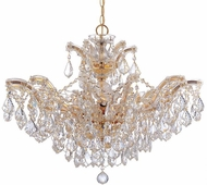 Crystorama 4439-GD-CL-S Maria Theresa Gold 27 Chandelier Lighting