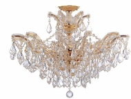 Crystorama 4439-GD-CL-SAQ-CEILING Maria Theresa Gold 27  Ceiling Light Fixture