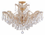 Crystorama 4439GDCLMWP Maria Theresa Convertible Gold Semi Flush Ceiling Light/Chain Hung Chandelier