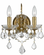 Crystorama 4452-GA-CL-S Filmore Antique Gold Candle Wall Sconce Lighting