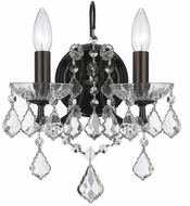 Crystorama 4452-VZ-CL-SAQ Filmore Vibrant Bronze Candle Wall Lighting Sconce