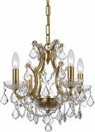 Crystorama 4454-GA-CL-MWP Filmore Antique Gold Mini Chandelier Light