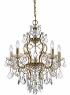 Crystorama 4455-GA-CL-MWP Filmore Antique Gold Mini Lighting Chandelier
