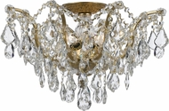 Crystorama 4457-GA-CL-MWP Filmore Antique Gold Flush Mount Lighting Fixture