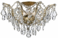 Crystorama 4457-GA-CL-SAQ Filmore Antique Gold 19  Ceiling Light Fixture