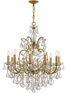 Crystorama 4458-GA-CL-MWP Filmore Antique Gold Chandelier Light