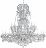 Crystorama 4460-CH-CL-S Maria Theresa Polished Chrome 64 Chandelier Light