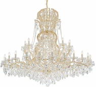 Crystorama 4460-GD-CL-S Maria Theresa Gold 64  Hanging Chandelier