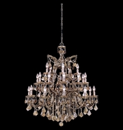 Crystorama 4470-AB-GT-MWP Maria Theresa Antique Brass 38 Inch Diameter 26 Candle Dining Room Chandelier