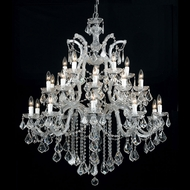 Crystorama 4470-CH-CL-MWP Maria Theresa Polished Chrome Lighting Chandelier
