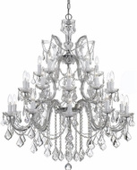 Crystorama 4470-CH-CL-S Maria Theresa Polished Chrome 38  Chandelier Lighting
