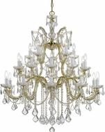 Crystorama 4470-GD-CL-SAQ Maria Theresa Gold 38  Chandelier Light