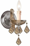 Crystorama 4471-AB-GT-MWP Maria Theresa Antique Brass Candle Wall Sconce Lighting