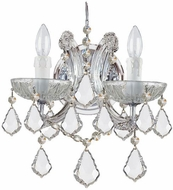 Crystorama 4472-CH-CL-S Maria Theresa Polished Chrome Candle Sconce Lighting