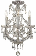 Crystorama 4473-CH-CL-S-CEILING Maria Theresa Polished Chrome Flush Mount Lighting Fixture