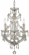Crystorama 4473-CH-CL-S Maria Theresa Polished Chrome Mini Hanging Chandelier