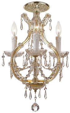Crystorama 4473-GD-CL-S-CEILING Maria Theresa Gold Flush Mount Ceiling Light Fixture