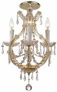 Crystorama 4473-GD-CL-SAQ-CEILING Maria Theresa Gold Home Ceiling Lighting