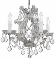 Crystorama 4474-CH-CL-S Maria Theresa Polished Chrome Mini Ceiling Chandelier