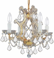 Crystorama 4474-GD-CL-S Maria Theresa Gold Mini Chandelier Light