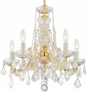 Crystorama 4476-GD-CL-MWP Maria Theresa Gold Mini Ceiling Chandelier
