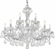 Crystorama 4479-CH-CL-I Maria Theresa Polished Chrome Chandelier Lighting