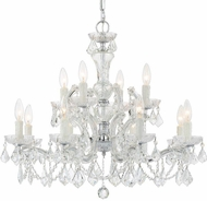 Crystorama 4479-CH-CL-MWP Maria Theresa Polished Chrome Lighting Chandelier