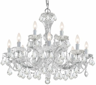 Crystorama 4479-CH-CL-SAQ Maria Theresa Polished Chrome Chandelier Light