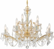 Crystorama 4479-GD-CL-MWP Maria Theresa Gold Hanging Chandelier
