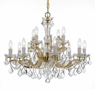 Crystorama 4479-GD-CL-S Maria Theresa Gold Chandelier Light