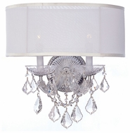 Crystorama 4482CHSMWCLMWP Maria Theresa Classic Chrome Candle Wall Lighting with Shade