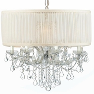 Crystorama 4489-CH-SAW-CLM Brentwood Polished Chrome Lighting Chandelier